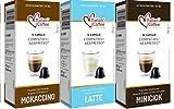 60 Capsulas Nespresso Chocolate con Leche - Degustacion de 2 Sabores - Compatibles con Cafeteras...
