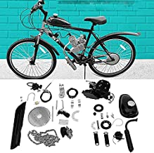 Ytginga Bicycle Motor Kit 80cc 2 Stroke Petrol Gas Motor Engine Kit Set Super Fuel-Efficient, Consumes Only 2.5 Liters of Fuel Per 100 Kilometers, Easy to Install, Suitable for Mountain Bikes