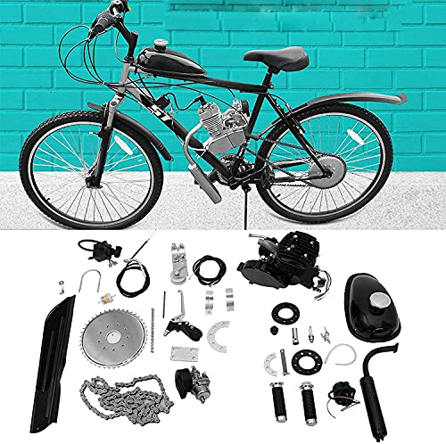 80cc Bicycle Engine Kit 2 Stroke Petrol Gas Motor Engine Kit Set Super Fuel-Efficient, Consumes Only 2.5 Liters Of Fuel Per 100 Kilometers, Easy To Install, Suitable For Mountain Bikes And Cruisers