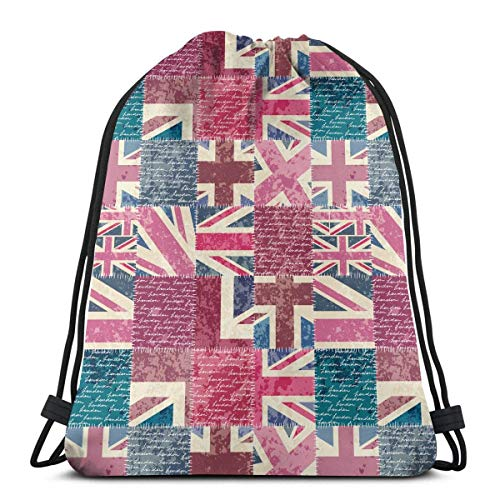 jingqi Bolsos De Gimnasio,Travel Sackpack,Mochila con Cordón,Sport Cinch Pack,Gym Bags,Letras De Londres