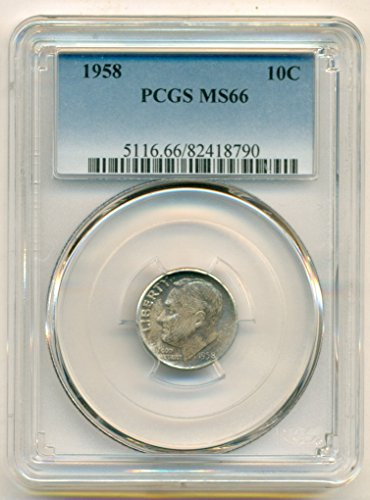 1958 Roosevelt Dime MS66 PCGS