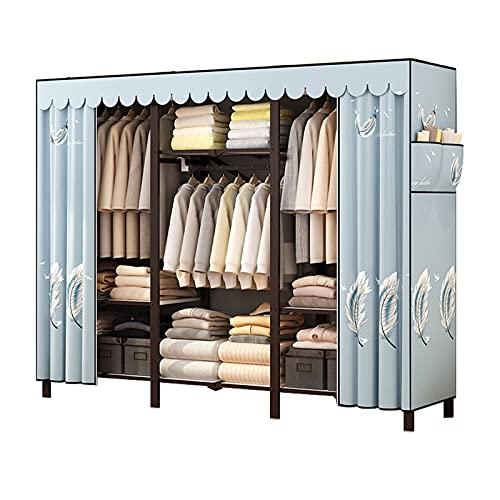 JIAO PAI Faltgarderobe, Einfache Tuch Garderobe Metallstabilisator-schrankschränke Für Schlafzimmer-Falten Und Schnelle Installation(Size:170 * 168 * 47CM)