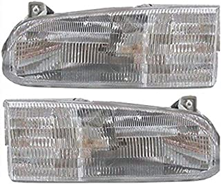 Winnebago Chieftain 1998-2001 RV Motorhome Pair (Left & Right) Replacement Front Headlights with Bulbs