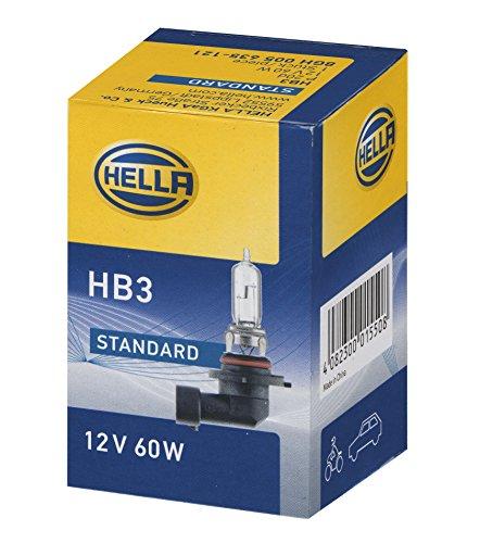 HELLA 8GH 005 635-121 Glühlampe - HB3 - Standard - 12V/60W - P20d - Schachtel - Menge: 1