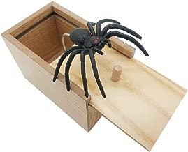 DE Spider Prank Scare Box,Wooden Surprise Box,Handmade Fun Practical Surprise Joke Boxes,Gags & Practical Joke Toys Halloween