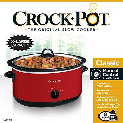 Crock-pot SCV800-R Express Crock Slow Cooker, 8 quart, Red