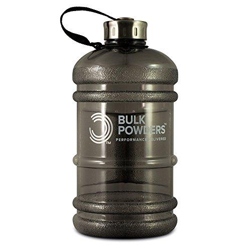 BULK POWDERS Botella de agua de 2,2 l, color negro, tamaño 2.2 Litre