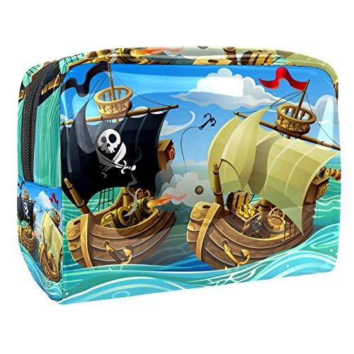 TIZORAX Sac cosmétique en PVC pour les pirates et les enfants