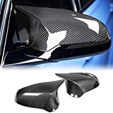 MCARCAR KIT Carbon Fiber Mirror Cover Caps Fits for BMW F80 M3 F82 F83 M4 2Door 4Door 2014-2019 Replacement Style Factory Outlet Rearview Side Mirror Caps Car Exterior Outside Shell(LHD)