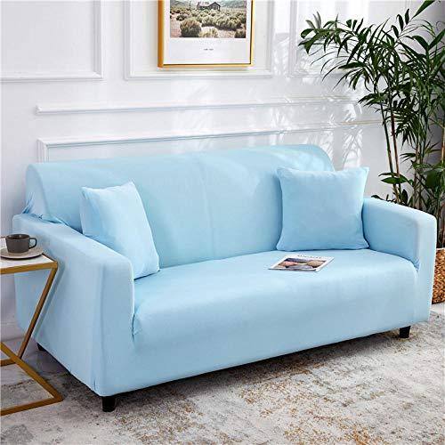 B/H 3 Plaza Funda de Sofá Elástico Cubierta,Funda de sofá elástica Universal, Funda de sofá de Tela Antideslizante-Azul B_235-300cm,Funda sofá Duplex