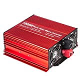 Fit4Less 2500W Pure Sine Wave Inverter 12V to 120V AC with 2 AC outlets (IP54 ETL Approved Sockets),DC5V 2 Amp USB Output, Wire Remote kit and Heavy Duty Battery Cables,Input terminals Fixing Wrench