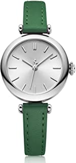 PANFU-AU Exquisite and Compact Ladies Watch for Women Ladies Girls Student Waterproof Quartz Watch Womens Analogue Quartz Watch with Leather Strap (Color : Green)