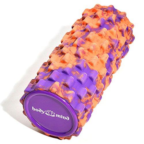 Body & Mind Rullo fascia per massaggio, per fitness, sport, terapia. efficace per l'auto-massaggio  Orange-lila