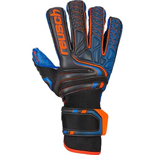Reusch Herren Handschuhe Attrakt G3 Fusion Evolution Finger Support, Blck/Shock. orange/deep b, 9, 5070938