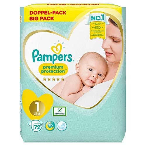 Pampers Premium-Schutz Größe 1 x72 Windeln, 2kg-5kg