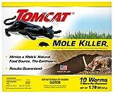 Tomcat Mole Killer Worm Bait, 4 Boxes (10 Worms per Box)