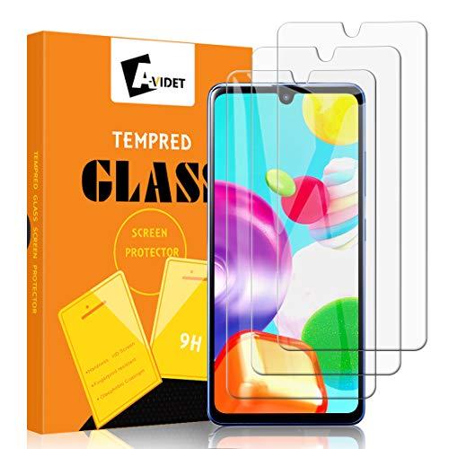A-VIDET 3 Stück Panzerglas Schutzfolie für Samsung Galaxy A41, 9H Härte Schutzfolie Anti-Kratzer/Anti-Öl/Anti-Bläschen/Anti-Staub Displayfolie Panzerglasfolie für Samsung Galaxy A41