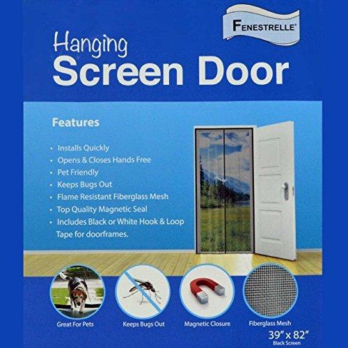 Fenestrelle Magnetic Door Screen - 2.1 lbs. Heavy Fiberglass Mesh....