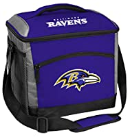 Rawlings NFL Soft-Sided Insulated Cooler Bag, 24-Can Capacity, Baltimore Ravens