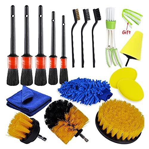 PETER LI Detallando Cepillo Conjunto Cepillos de limpieza de automóviles Poder Scrubber Broce Ajuste para Aire de Cuero Ventiladores Aire Limpieza Limpieza de Limpieza Limpieza Limpieza Herramientas