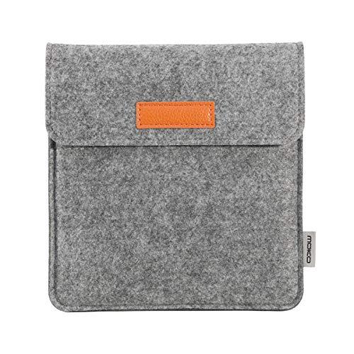 MoKo 7 Inch Kindle Sleeve Hülle Kompatibel mit All-New Kindle Oasis 2019/2017, Filz Schutzhülle Tasche für Kindle Oasis 2019/2017 E-Reader, Hell Grau