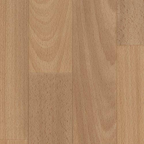 Vinylboden PVC Bodenbelag | Holzoptik Schiffsboden Buche | 200, 300 und 400 cm Breite | Meterware | Variante: 3,5 x 4m