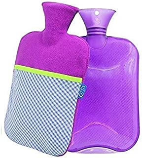 Asdfnfa PVC Hot Water Bag Large Hot Water Bottle with Super Soft Cover Explosion-Proof Safety Heat Or Cold Therapy 2L (Color : Purple, Size : One Size)