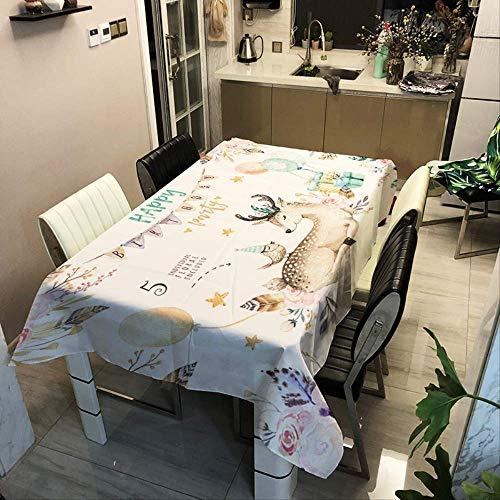 Tafelkleed Cartoon-animatie Eenhoorn Huishoudelijk spatwaterdicht en wasbaar tafelkleed (rechthoekig, polyester, 55 x 78 inch)