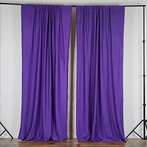 BalsaCircle 10 ft x 10 ft Purple Polyester Photography Backdrop Drapes Curtains Panels - Wedding Decorations Home Party Reception Supplies
