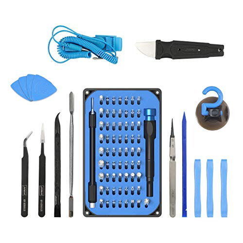 Feinmechaniker Schraubendreher Set 85 Teilig Reparatur Set, JVMAC Security Torx Pentalobe Kreuzschlitz JIS tri-point für Handy, Nintendo Switch, Tablet, PC, Konsolen, Kamera