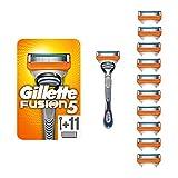 Gillette Fusion5 Lamette di Ricambio per Rasoio, Confezione da 11 Testine e Manico Gratis...