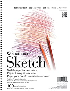 "Strathmore (25-508 STR-025-508 100 Sheet Sketch Pad, 8.875 by 11"", 8.5""x11"""