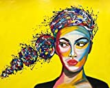 CloudShang Graffiti Arte Novela Abstracto Mujer Poster Feminismo Pintura Africano Mujer Pared Arte Impresiones Chica Regalo De la Lona Moderno Mujer Dormitorio Pared Poster Feminismo H24124