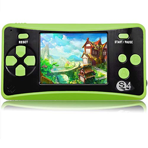 QoolPart Handheld Games for Kids Adults 2.5'' Color Screen Preloaded 182 Classic Retro Video Games No WiFi Needed Seniors Electronic Game Player Birthday Xmas Present (Green)