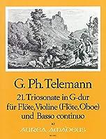 TELEMANN - Trio Sonata en Sol Mayor (TWV:42/g12) para Flauta, Violin y BC (Partitura/Partes)