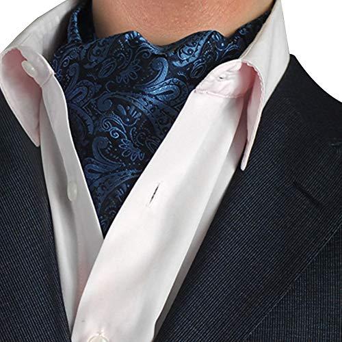 STTLZMC Herren Krawattenschal Ascotkrawatte Schal Fashion Gentleman Cravat Ties,color 14,One Size