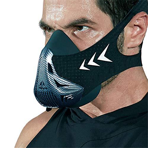 litthb Leicht zu reinigende Fitnessmaske mit 6 Atemmodi, Höhensimulation, hochwertiger, extrem haltbarer und zuverlässiger Struktur und starkem Gummiband