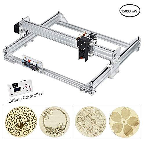 impresora de escritorio de 50x40 cm impresora de marcado de logotipo m/áquina de corte de grabado de talla de madera USB de 12 V TOPQSC 7000MW Kit de m/áquina de grabado l/áser CNC