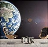 Papel Pintado Planeta Tierra Azul Fotomural Para Paredes Mural Vinilo Decorativo Decoración Comedores, Salones,Habitaciones 350X250Cm