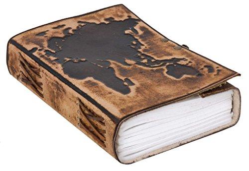 """'Taccuino Gusti Leder """"Ronda DIN B5cuoio libro Block Notes Blocco per Appunti accessori Diario di viaggio libro di ricette marrone scuro 2p47-24-24"""