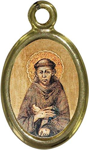 Medalla Metal Dorado cm 1,5resina S. Francesco (unidades 50piezas)