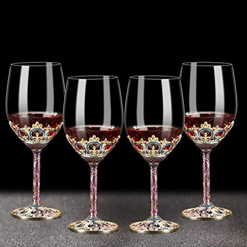 RONGXIANMA Copa de Vino 5 uds, Color esmaltado Creativo, Cristal, Copa de Vino Tinto, Juego de decantador, Copa, Copas de Boda, champán