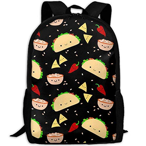 best& Vintage Taco Tuesday Party College Laptop Backpack Student School Bookbag Rucksack Travel Daypack