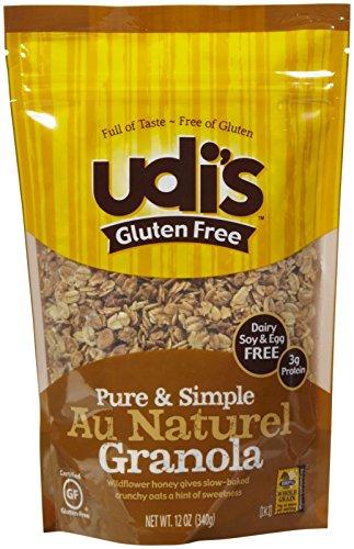Udi's Gluten Free Granola, Au Naturel, 12 oz
