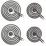 MP22YA Electric Range Burner Element Unit Set, 2 pcs MP15YA 6' and 2 pcs MP21YA 8'