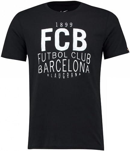 Nike Squad Tee - Maillot à Manches Courtes Ligne F.C. Barcelona Homme, Couleur