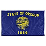 Vispronet - Oregon State Flag - 3ft x 5ft Knitted Polyester, State Flag Collection, Made in The USA (Flag only)