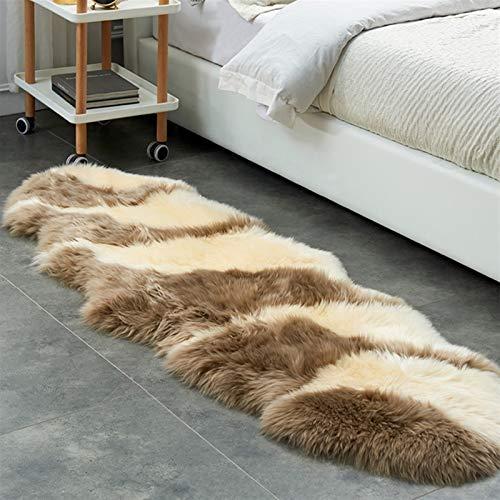 Altlue Lammfell Schaffell Teppich Bettvorleger Sofa Matte Echtes Naturfell Sitzfell Echtes Fell Teppich Ökologische Gerbung (Color : 3)
