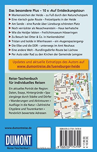 DuMont Reise-Taschenbuch Reiseführer Lüneburger Heide, Wendland, Elbtalaue: mit Online Updates als Gratis-Download - 2