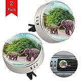 LORVIES - Deodorante per auto con simpatici elefanti per aromaterapia, 2 pezzi